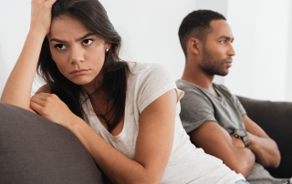 Couple experiencing relationship issues due to self sabotaging