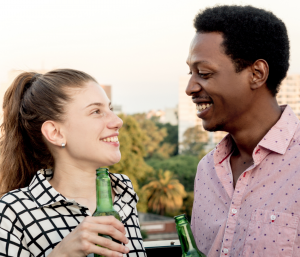 Couple showing signs of a healthy relationship
