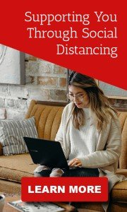 Woman Social Distancing by Working From home