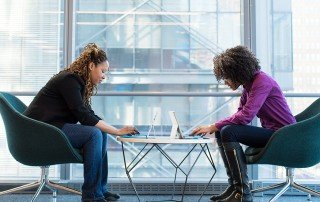 Women in a work meeting