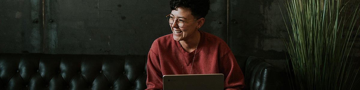 Woman connecting through technology during social distancing