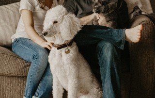 Couple and Pets Social Distancing