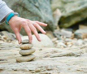 Rocks Demonstrating a Balance in life